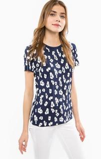 Синяя футболка с отделкой пайетками Michael Michael Kors