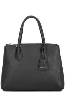 Черная сумка из натуральной кожи Abro