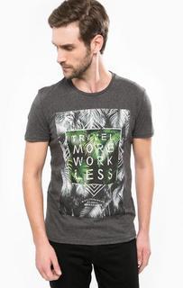 Серая футболка с круглым вырезом Mavi