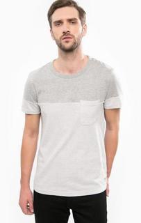 Серая футболка из хлопка Tom Tailor Denim