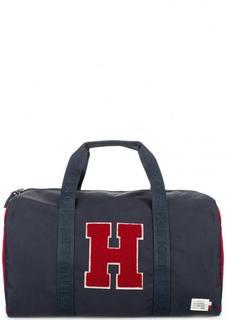 Большая текстильная сумка со съемным ремнем Tommy Hilfiger