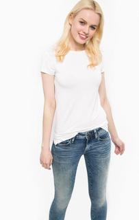 Белая футболка с короткими рукавами Mavi