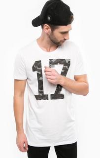 Белая футболка из хлопка с круглым вырезом Mavi