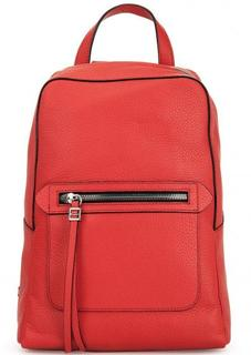 Кожаный красный рюкзак на молнии Gianni Chiarini