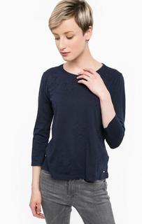 Синяя футболка из хлопка Tom Tailor Denim