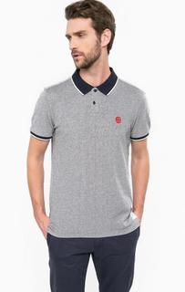 Синяя футболка поло с короткими рукавами Tom Tailor Denim