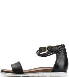 Кожаные сандалии с выделкой под рептилию Mjus
