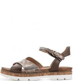 Кожаные сандалии на рифленой подошве Mjus