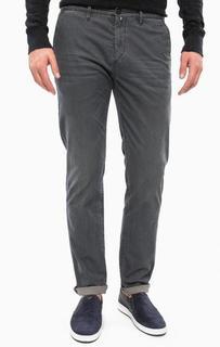 Зауженные синие брюки из хлопка Marc Opolo