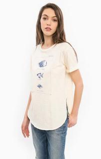 Хлопковая футболка с разрезами по бокам Pepe Jeans