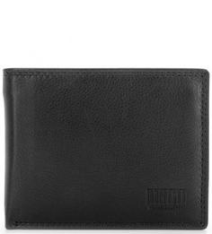Черное портмоне из натуральной кожи Mano