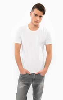 Белая футболка с короткими рукавами Drykorn