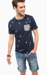 Хлопковая футболка с вышивкой Guess