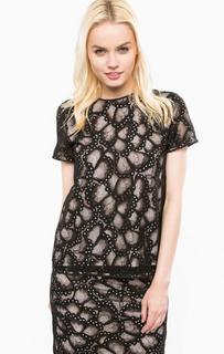 Кружевная блуза с короткими рукавами Juicy Couture