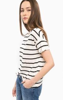 Белая футболка в полоску Mavi
