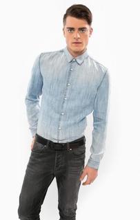 Джинсовая рубашка с приталенным кроем Drykorn