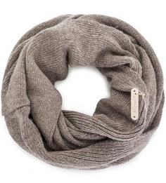 Вязаный шарф-хомут из шерсти Noryalli