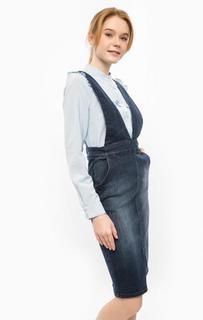Синий джинсовый комбинезон средней длины Ichi