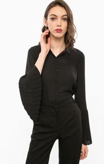 Черная блуза с плиссированными рукавами Marciano Guess