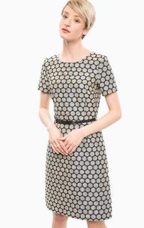 Платье-футляр в горошек с ремнем More & More