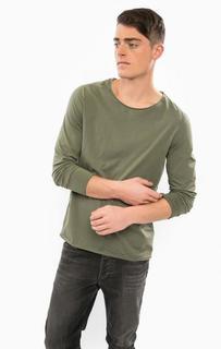 Хлопковая футболка с длинными рукавами Drykorn