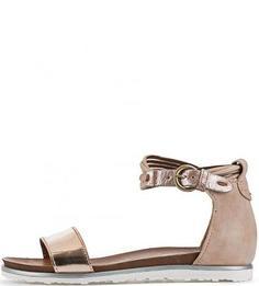 Кожаные сандалии с закрытой пяткой Mjus