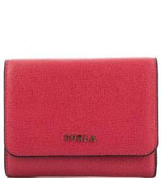 Красный кошелек из сафьяновой кожи Furla