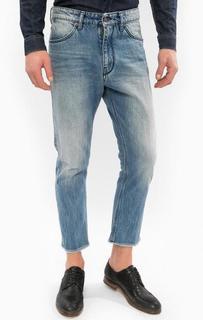 Синие зауженные джинсы с низкой посадкой Drykorn