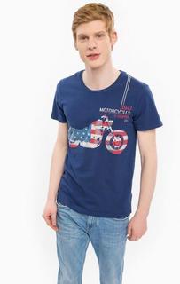 Синяя футболка из хлопка Wrangler