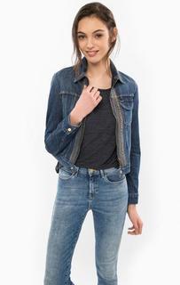 Джинсовая куртка на молнии с вышивкой Wrangler