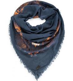 Синий платок из хлопка Drykorn