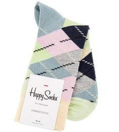 Хлопковые носки в клетку Happy Socks