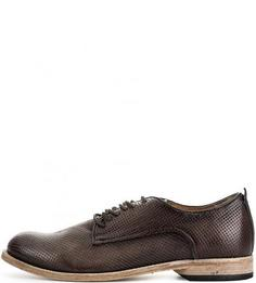 Коричневые кожаные туфли A.S.98