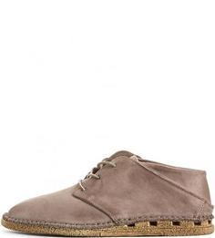 Коричневые ботинки из натуральной кожи A.S.98