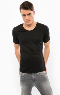 Черная футболка с короткими рукавами Drykorn