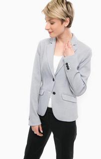 Приталенный синий пиджак на пуговицах More & More