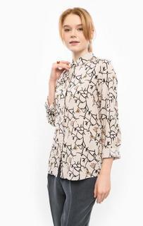 Блуза из вискозы с цветочным принтом Ichi