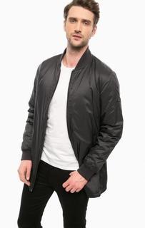 Черная куртка на двухзамковой молнии Barbour