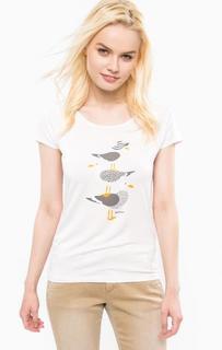 Белая футболка с короткими рукавами Barbour