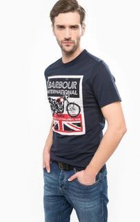 Хлопковая футболка с круглым вырезом Barbour