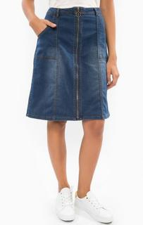 Джинсовая юбка средней длины B.Young
