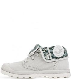 Серые текстильные ботинки с нашивками Palladium