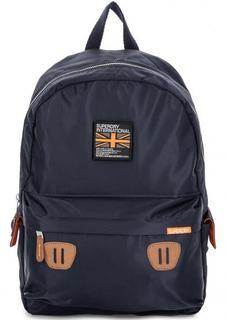 Синий текстильный рюкзак с широкими лямками Superdry