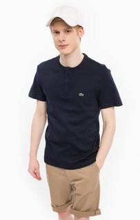 Хлопковая футболка с застежкой на пуговицы Lacoste