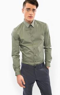 Классическая хлопковая рубашка на пуговицах Drykorn