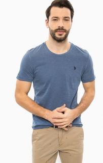 Синяя футболка с круглым вырезом U.S. Polo Assn.