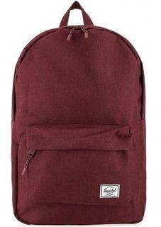 Бордовый текстильный рюкзак с карманом Herschel