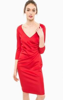 Красное платье с рукавами 3/4 Marciano Guess