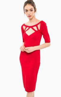 Облегающее красное платье из вискозы Marciano Guess