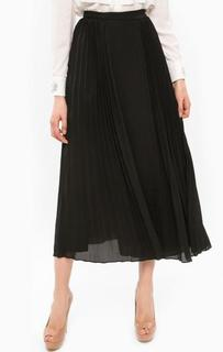 Черная плиссированная юбка с запахом Marciano Guess